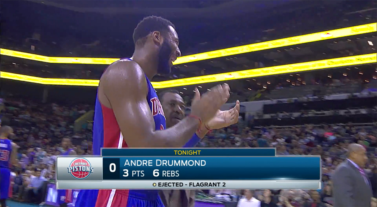 Andre Drummond gave the refs a round of applause after they eje…