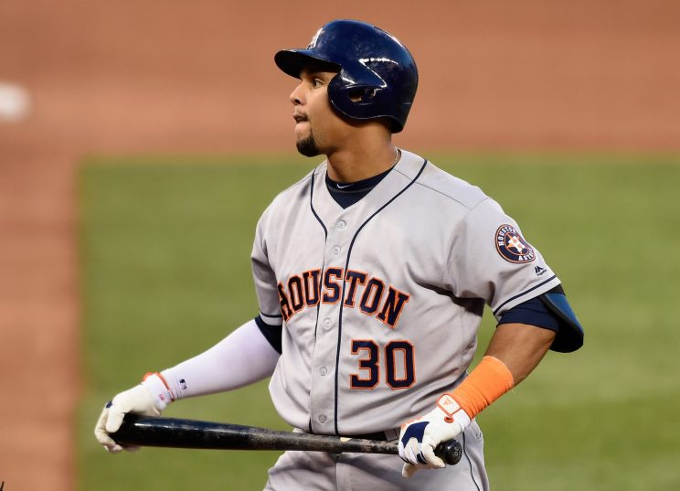 Carlos Gomez has been DFA'd by the Astros. (Getty Images/Hannah Foslien)