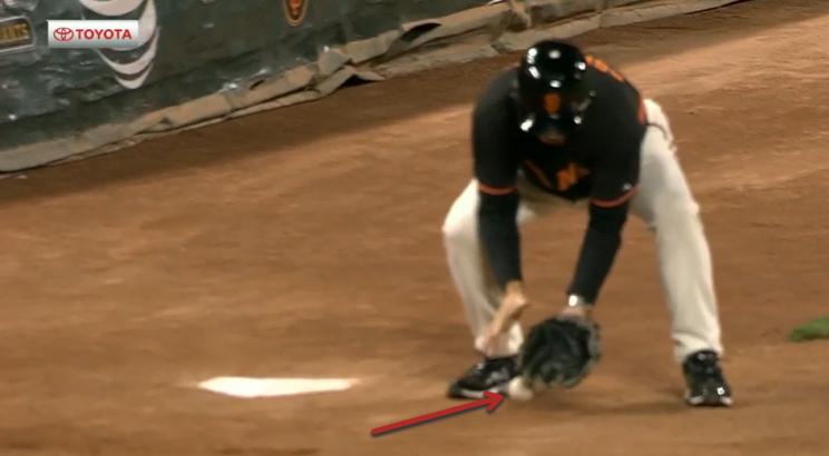 Giants balldude gets a hard reminder that baseball isn't easy