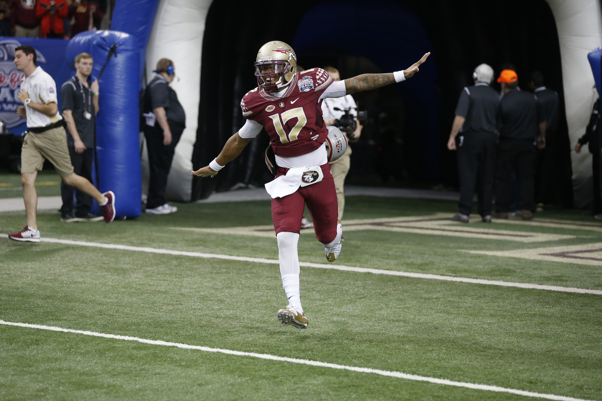 Florida State quarterback Deondre Francois. (AP Photo/John Bazemore)