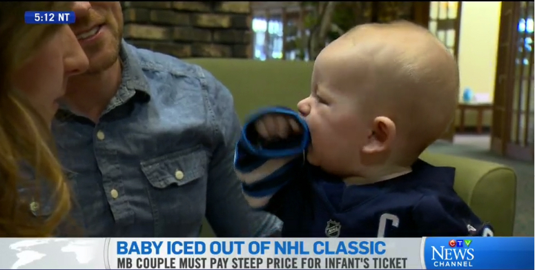 No free rides for babies at Heritage Classic: Report