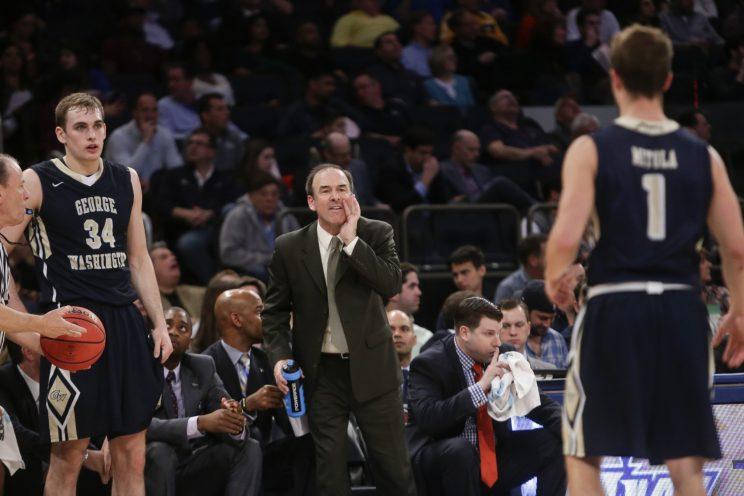George Washington coach Mike Lonergan (AP)