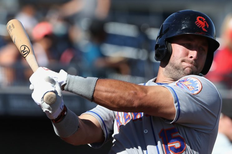 He is risen: Tim Tebow ends slump with first professional hit