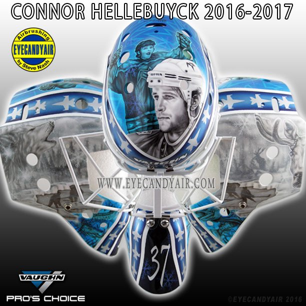 Connor Hellebuyck's new mask pays tribute to late Dan Snyder (P…