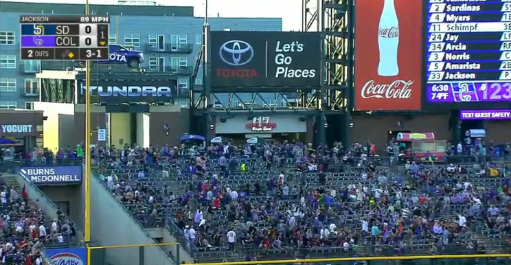 A monster homer at Coors Field prevented fans from buying burge…