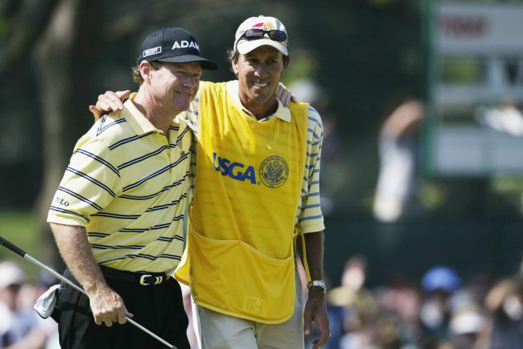 Tom Watson and Bruce Edwards at the 2003 U.S. Open (Getty Images)