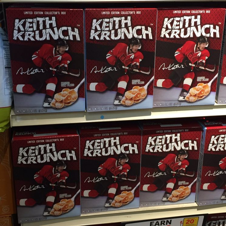 Duncan Keith's cereal