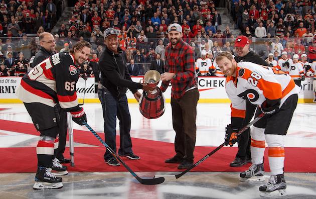 Ottawa Senators honor Grey Cup champs with unique pregame puck …