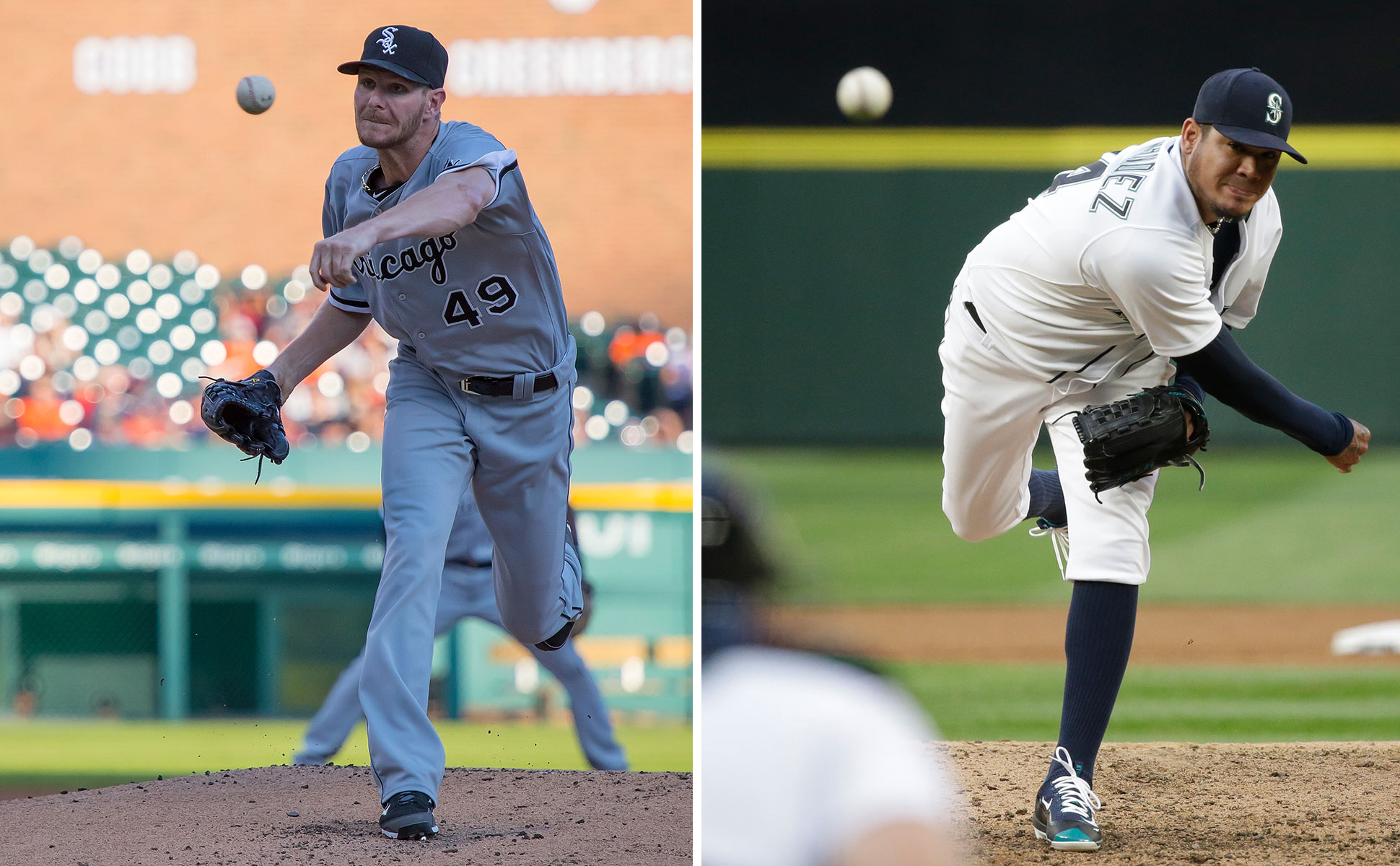 Watch Chris Sale vs. Felix Hernandez in the Yahoo Sports MLB Free Game of the Day. (AP/Getty Images)