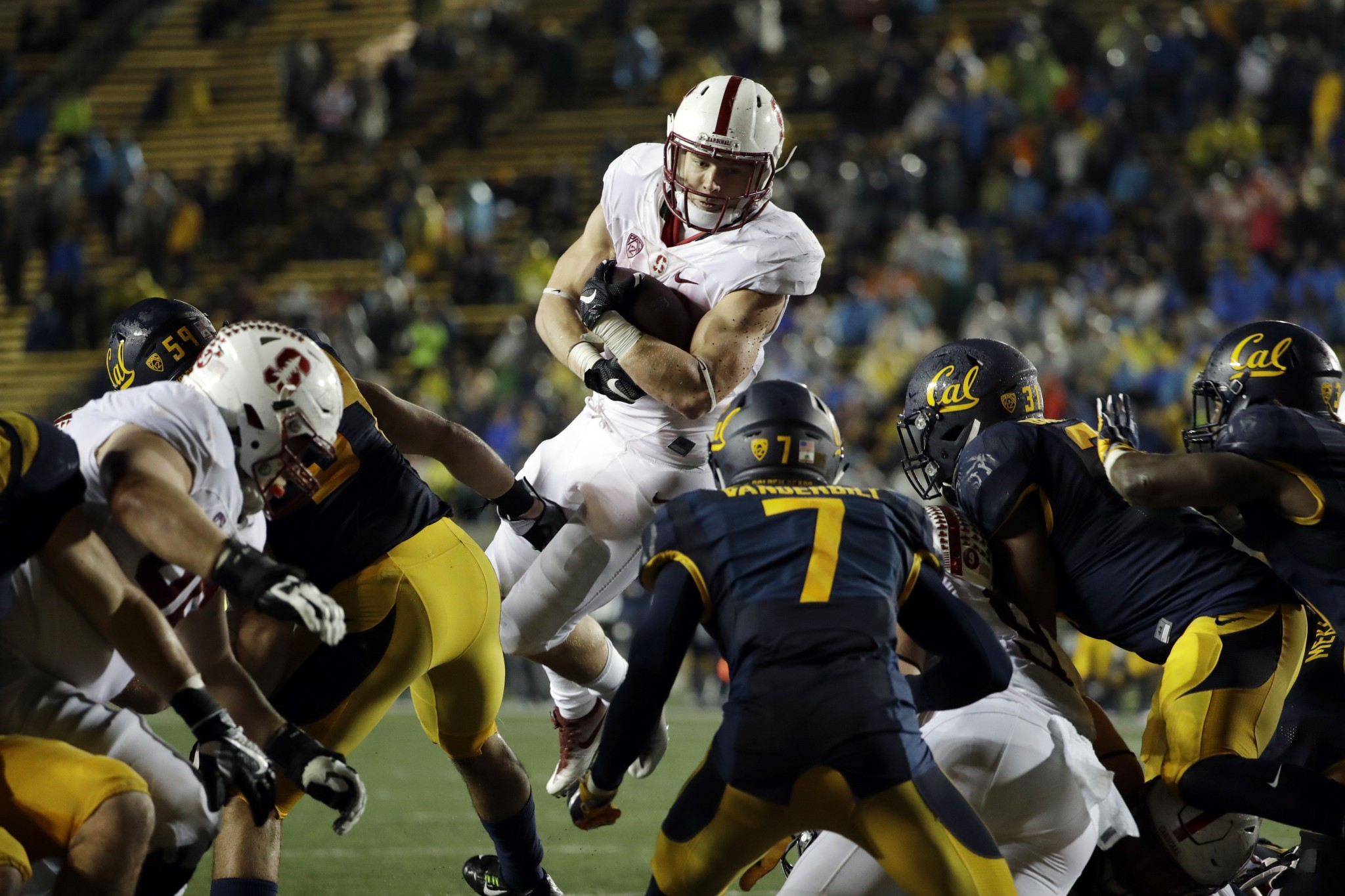 Stanford running back Christian McCaffrey has returned to 2015 form in the past five games. (AP)