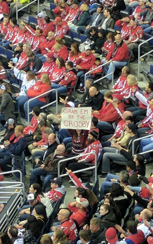 Capitals fan goes Donald Trump on Sidney Crosby (Photo)