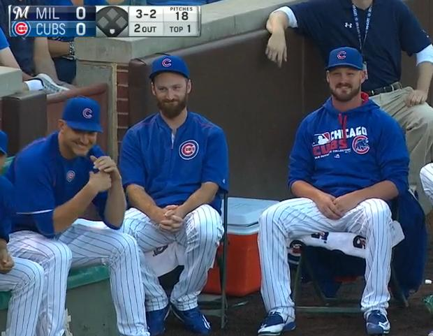 The Cubs bullpen will not acknowledge your rocket foul ball