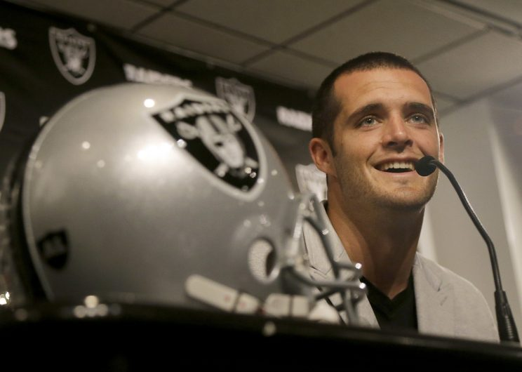 Derek Carr jokes about Seahawks for not handing Marshawn Lynch the ball in Super Bowl