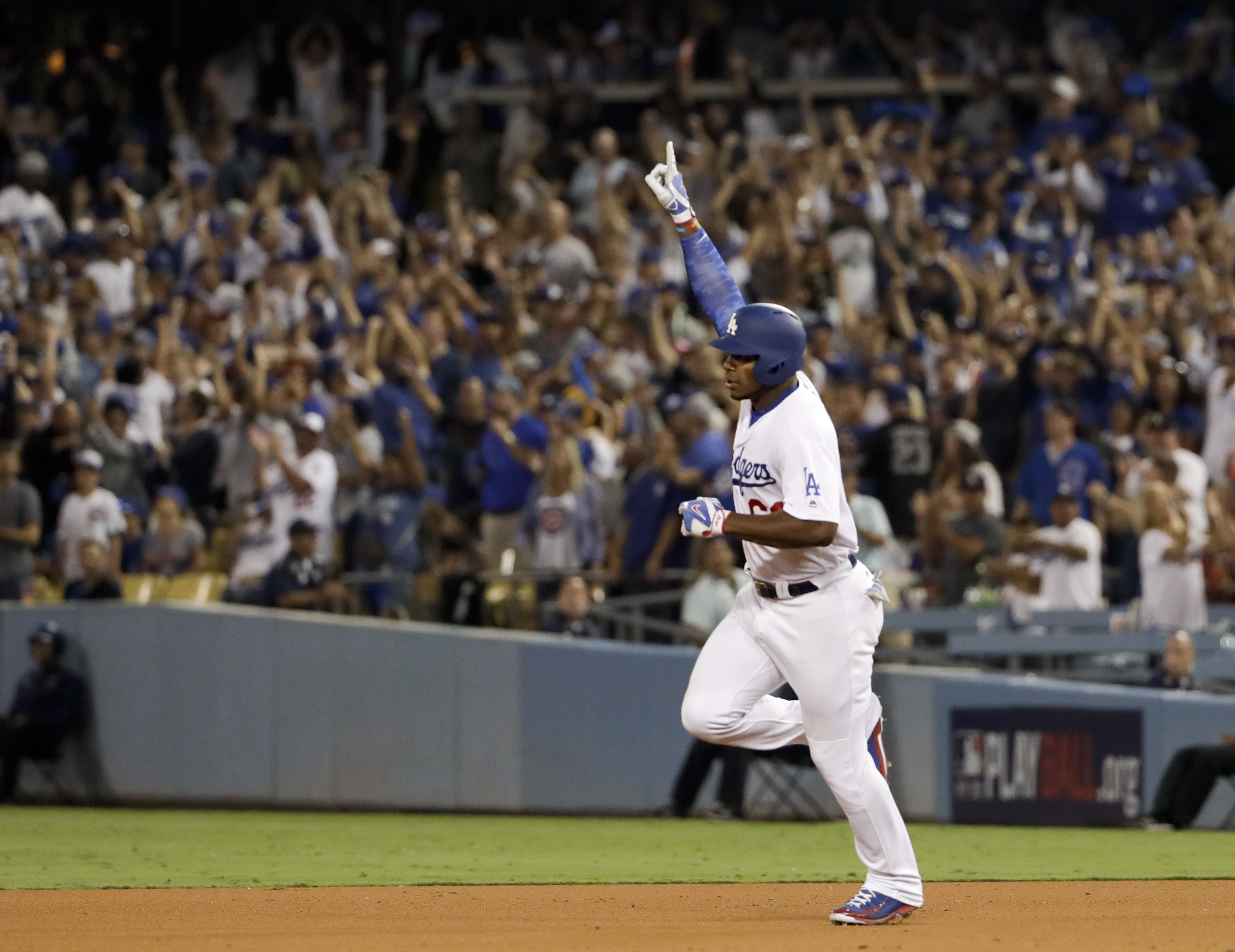 Yasiel Puig may have called his shot before double in NLCS Game 1