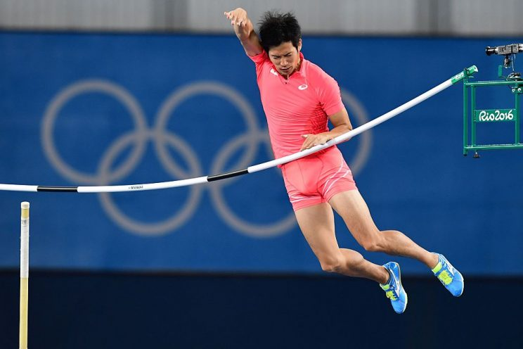 Japan's Hiroki Ogita competes in the men's pole vault in Rio de Janeiro. (Getty Images)