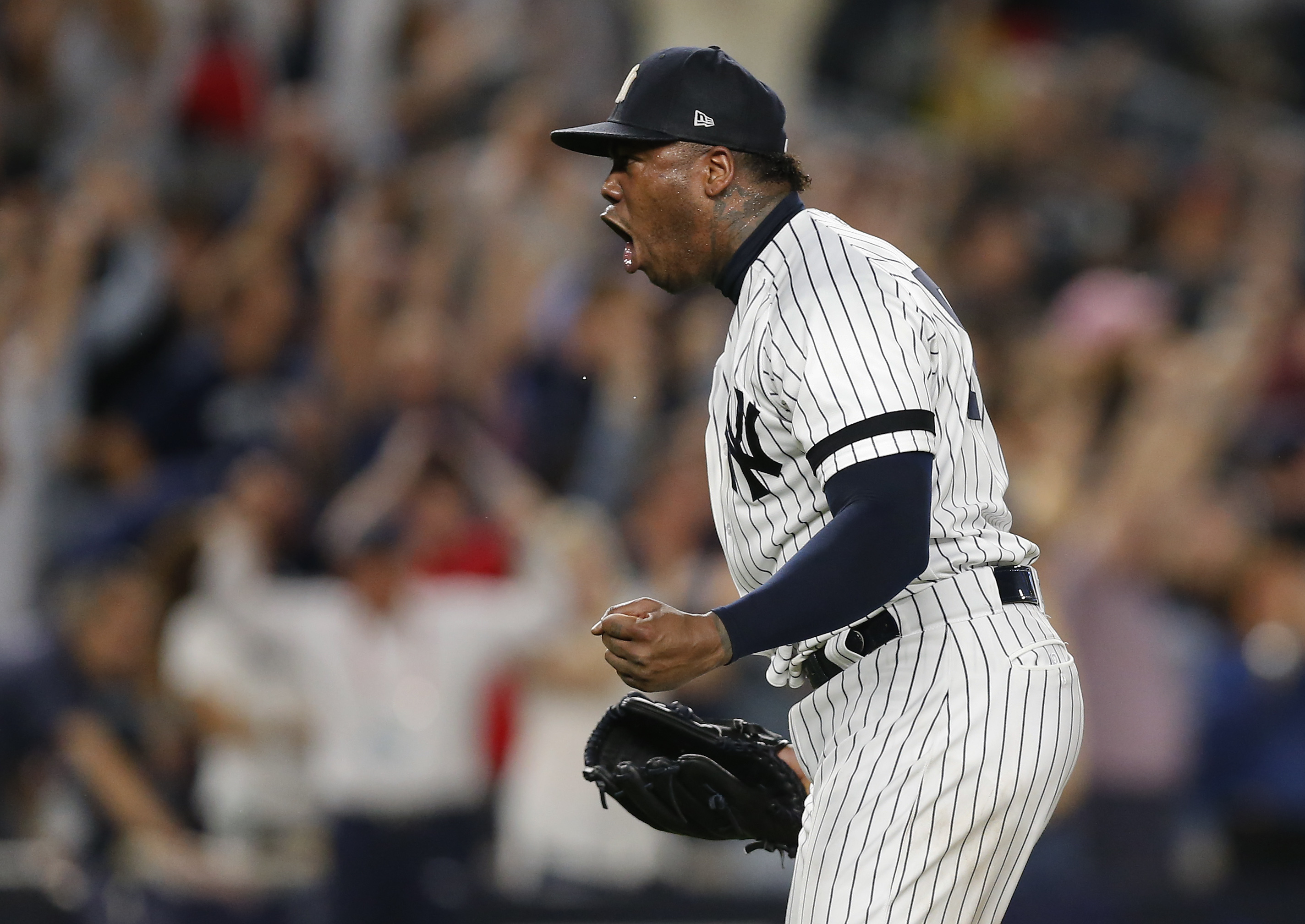 This stat about Aroldis Chapman in ALDS Game 3 will blow your mind