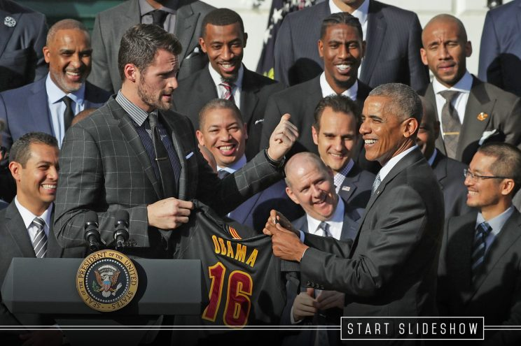 President (and Bulls fan) Barack Obama thanks the Cavs for beat…