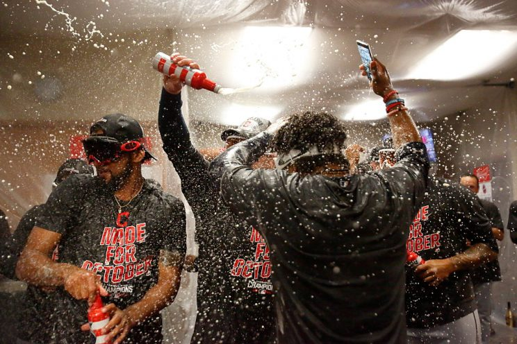 Mike Napoli's a one man party machine as Indians celebrate clin…