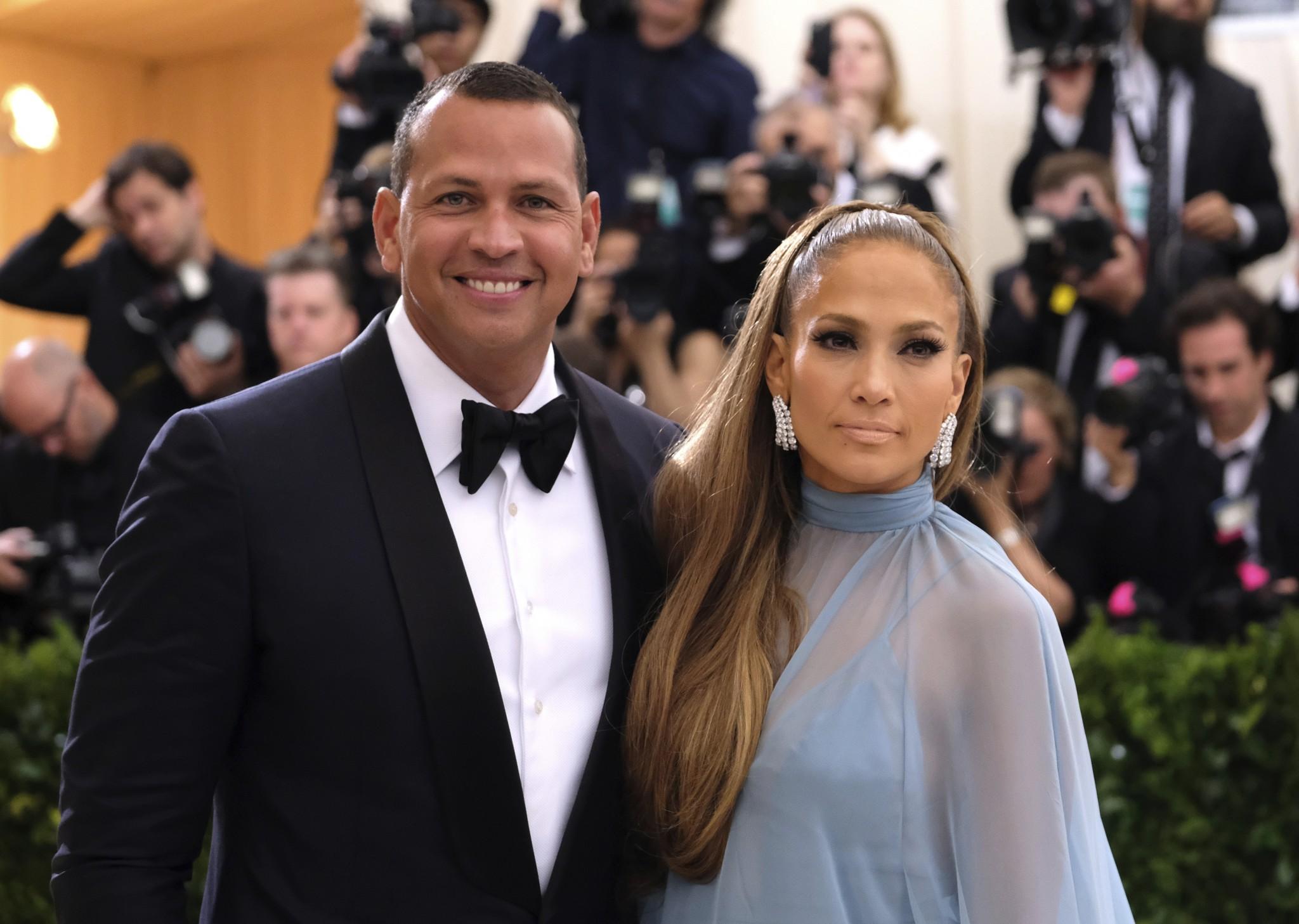 Alex Rodriguez and new girlfriend Jennifer Lopez. (AP)