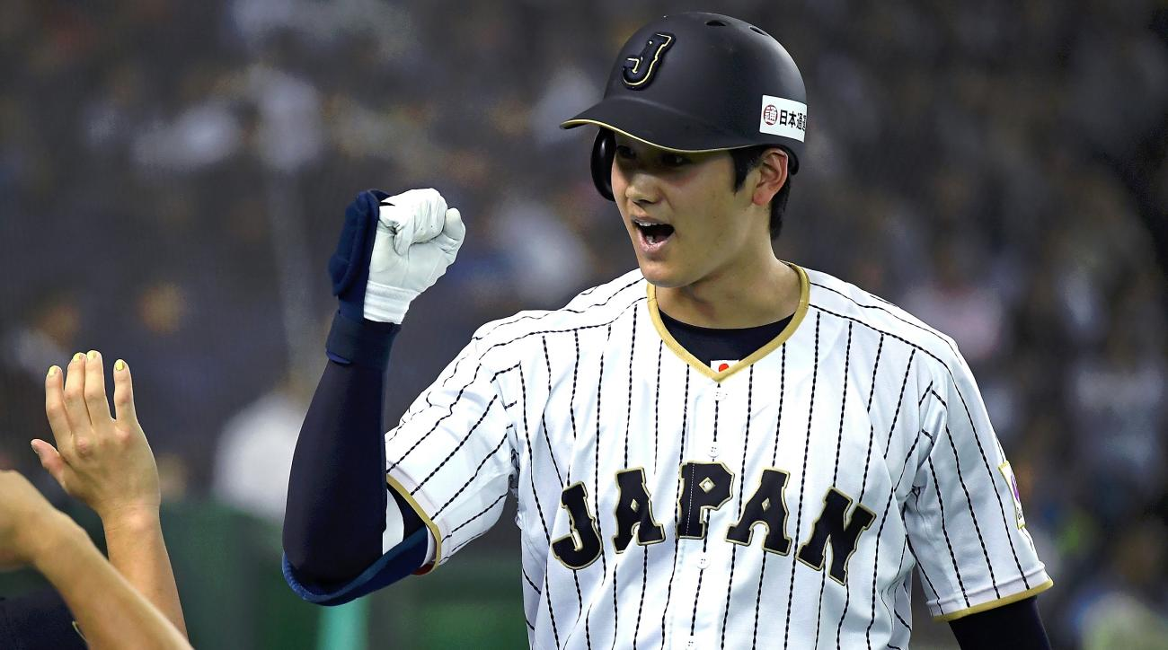Shohei Ohtani is preparing for the challenge of Major League Baseball by studying video of Bryce Harper. (AP)