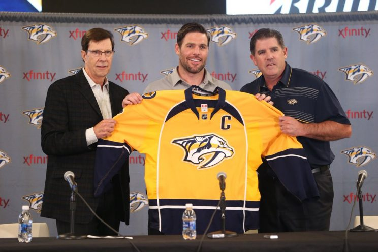 Veteran Fisher to be 7th captain in Preds' history
