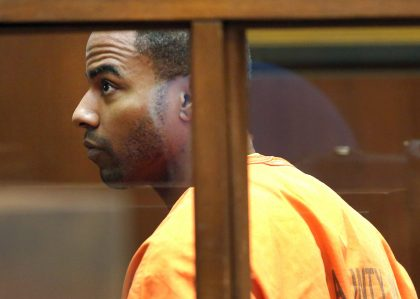 Darren Sharper in court in 2014 (AP)