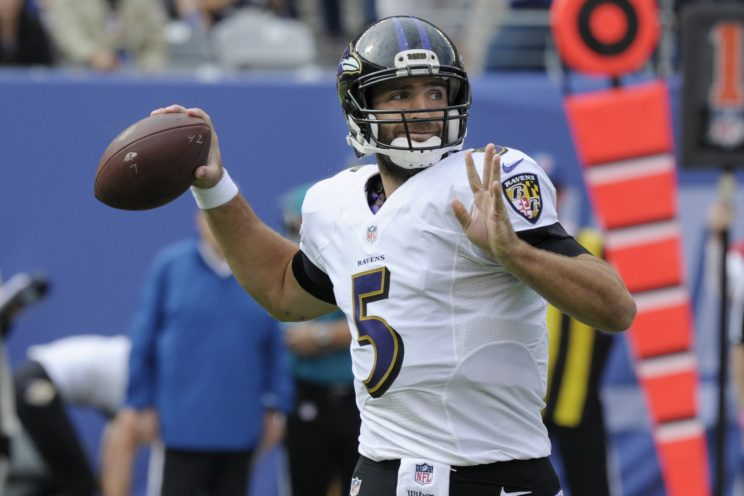 Joe Flacco likely to play, but over one-fourth of Ravens' start…