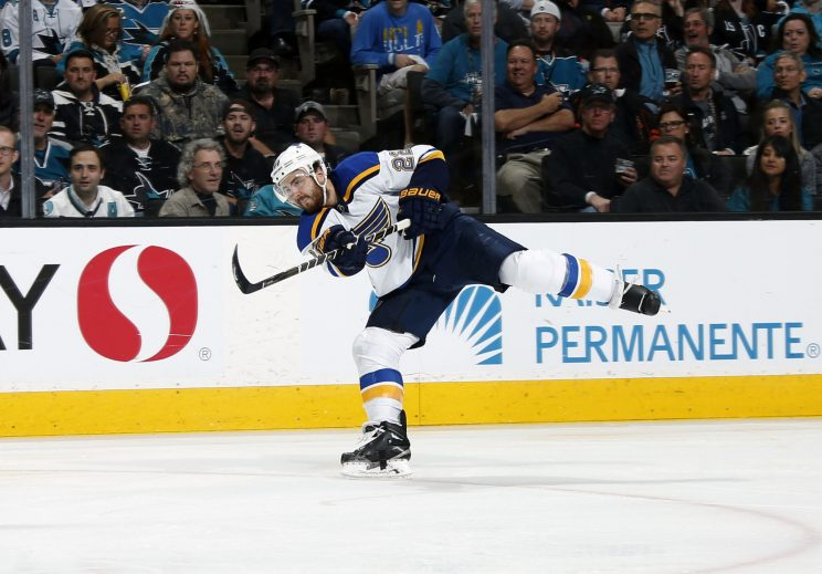 Kevin Shattenkirk twists in the wind with Blues