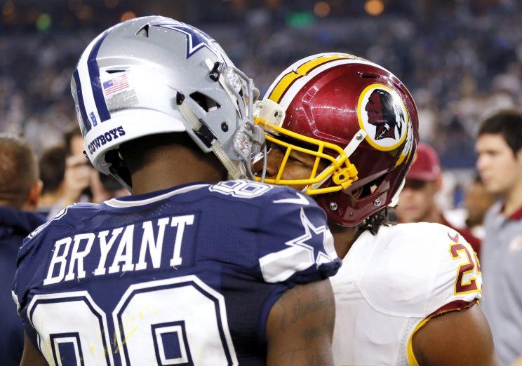 Josh Norman and Dez Bryant had words during one meeting last season. (AP)