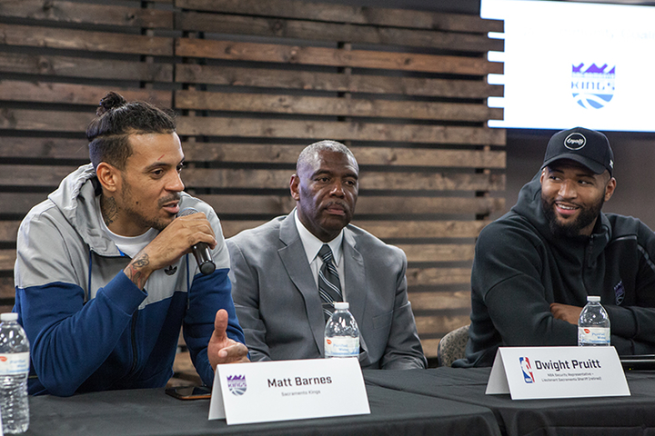 DeMarcus Cousins, Kings teammates host panel to promote police-…
