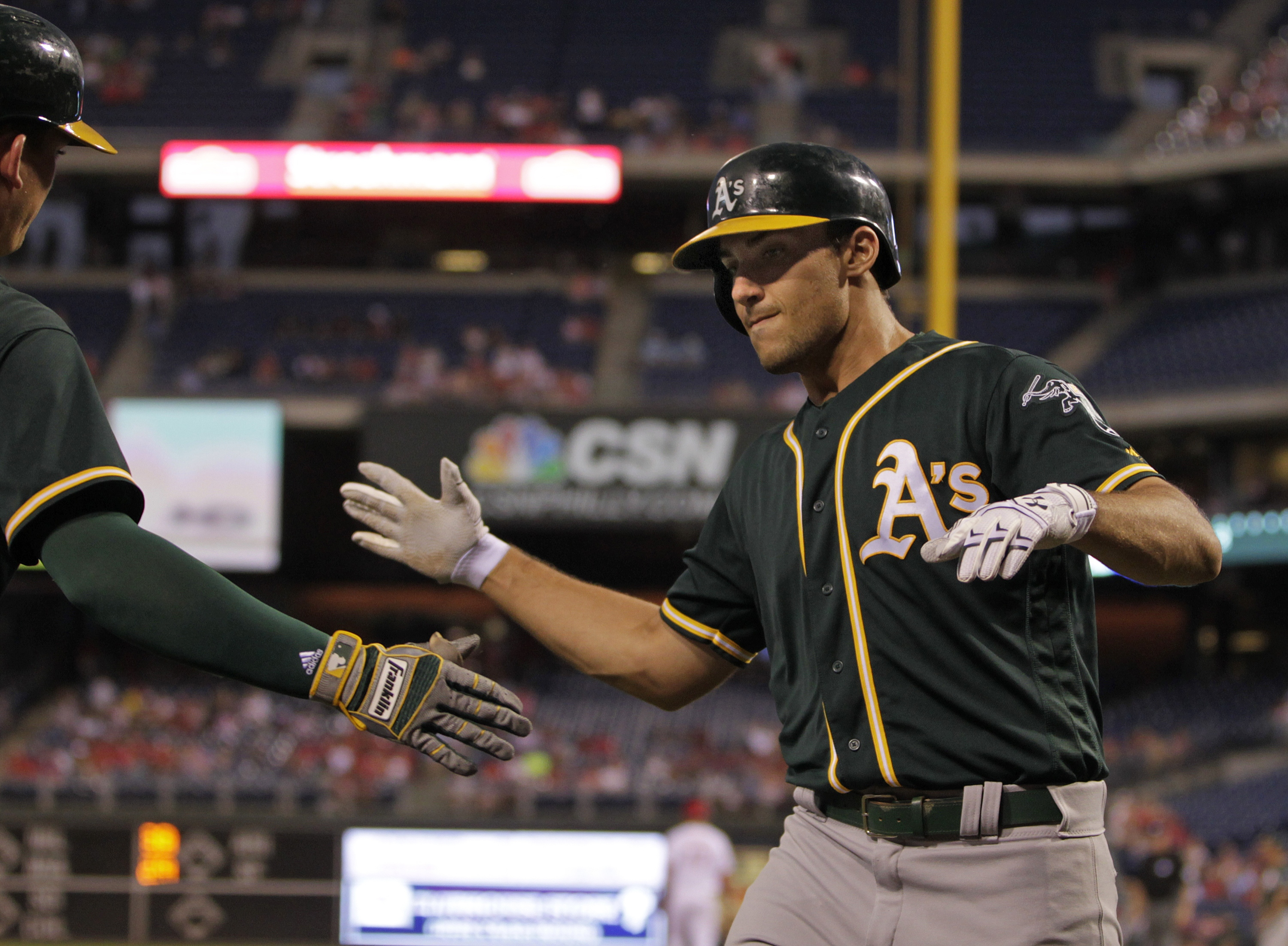 A's rookie Matt Olson equals Giancarlo Stanton with remarkable home run feat