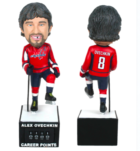 Puck Treasures: Alex Ovechkin bobblehead comes with points trac…
