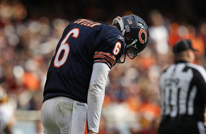 Jay Cutler is tough to get to know. But he might be the Bears' most known offensive quantity (Getty Images)