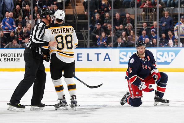 David Pastrnak suspended two games for Dan Girardi head-shot (V…