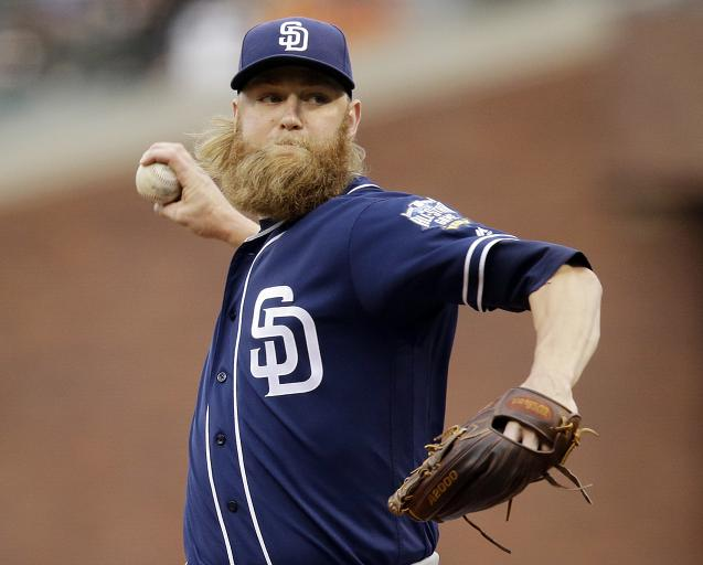 Andrew Cashner's beard consumed by Marlins' facial hair policy
