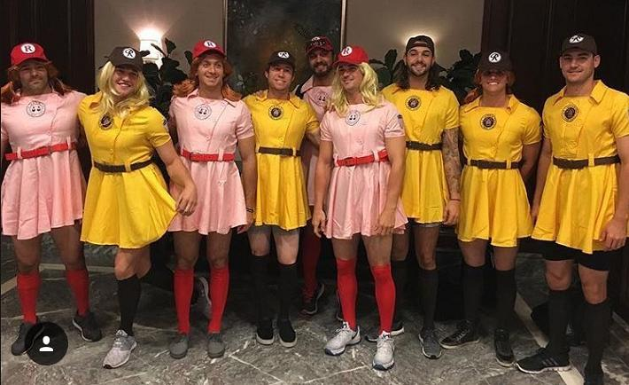 Mets rookies dress up in 'A League of Their Own' uniforms
