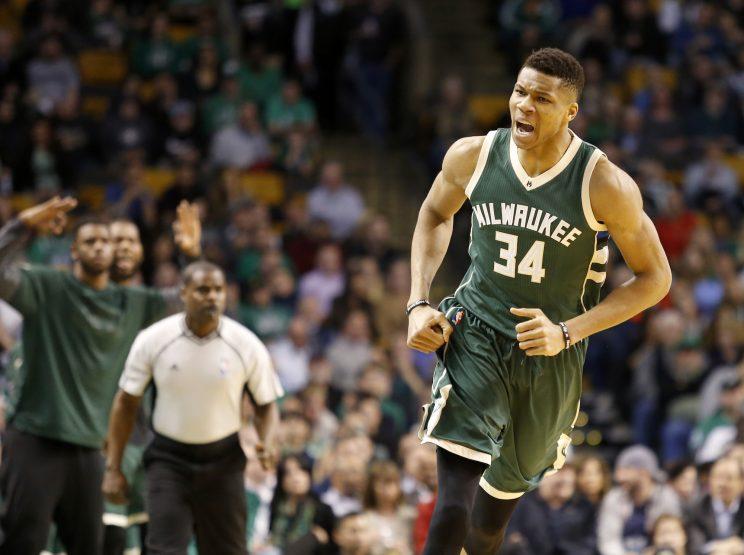 Giannis Antetokounmpo has a lot to celebrate in Milwaukee. (AP)