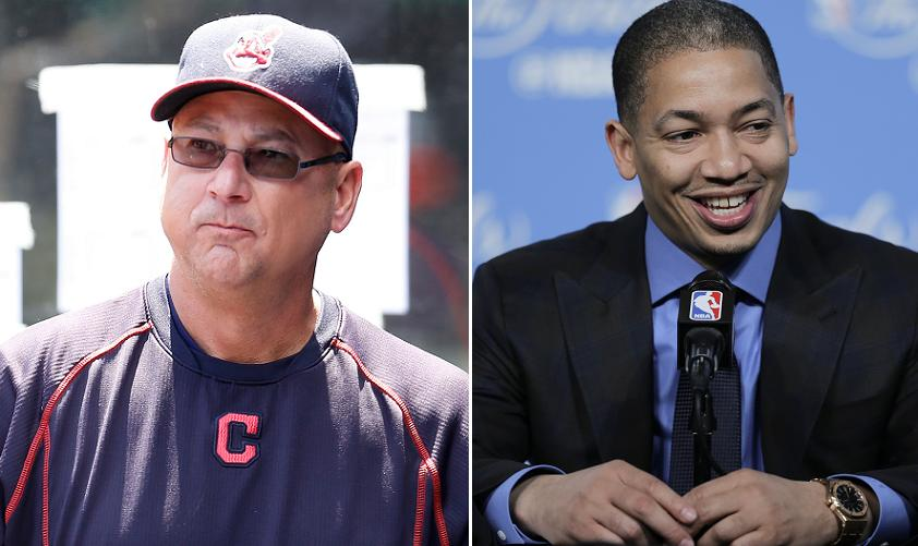 Terry Francona and Tyronn Lue are typically awkward acquaintanc…