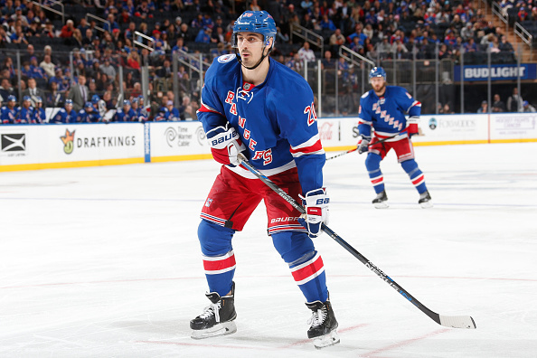 Chris Kreider out for Rangers at Oilers with upper-body injury
