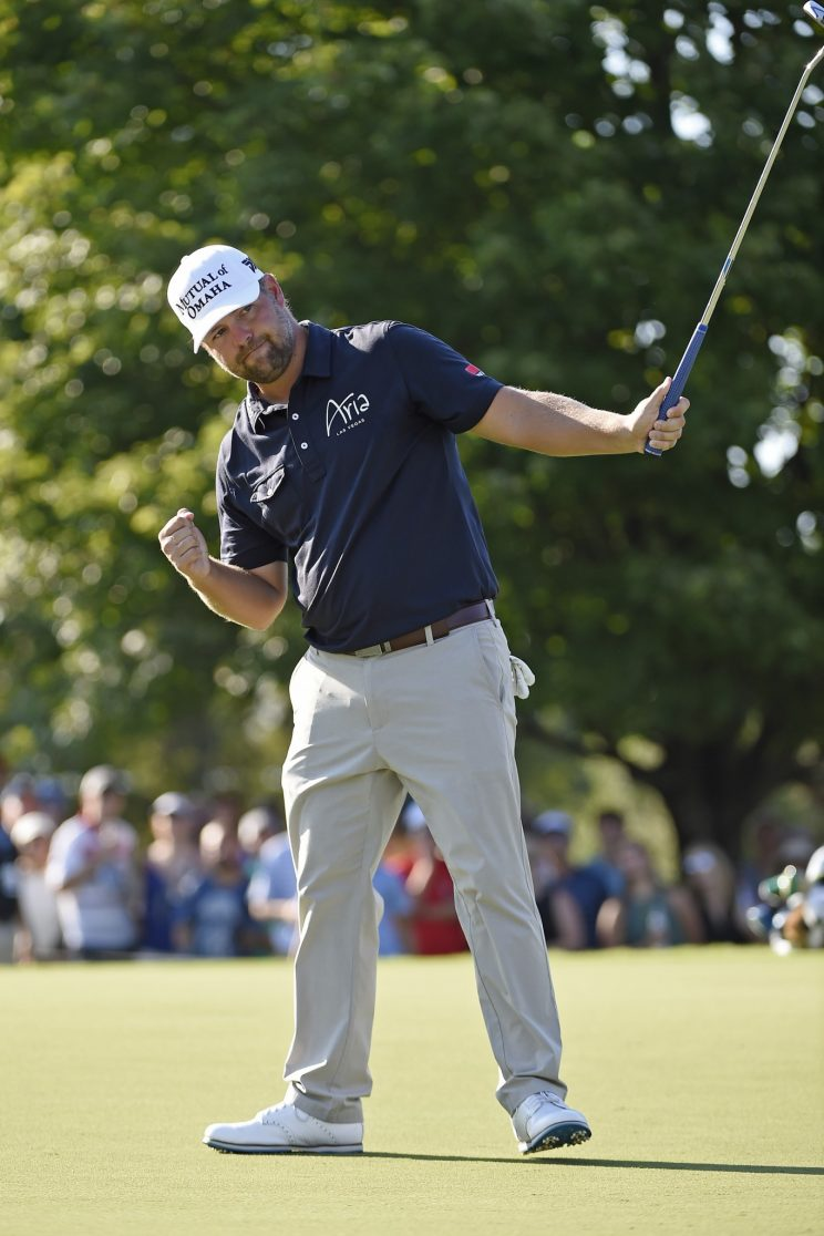Ryan Moore gave it his all on Sunday at East Lake. (Getty Images)