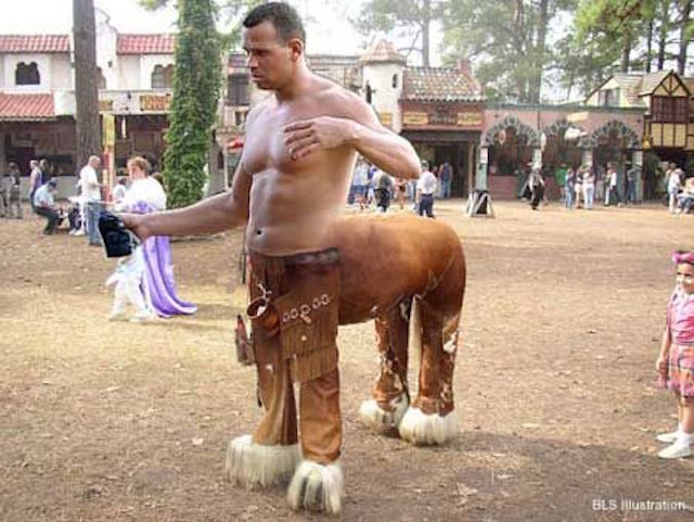 A-Rod as a centaur, maybe. (BLS illustration)