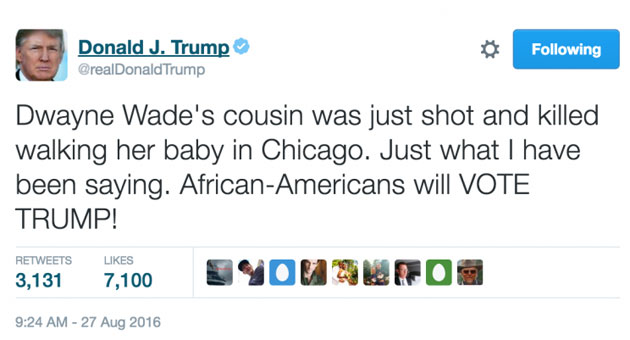 Presidential candidate Donald Trump politicizes Dwyane Wade's l…