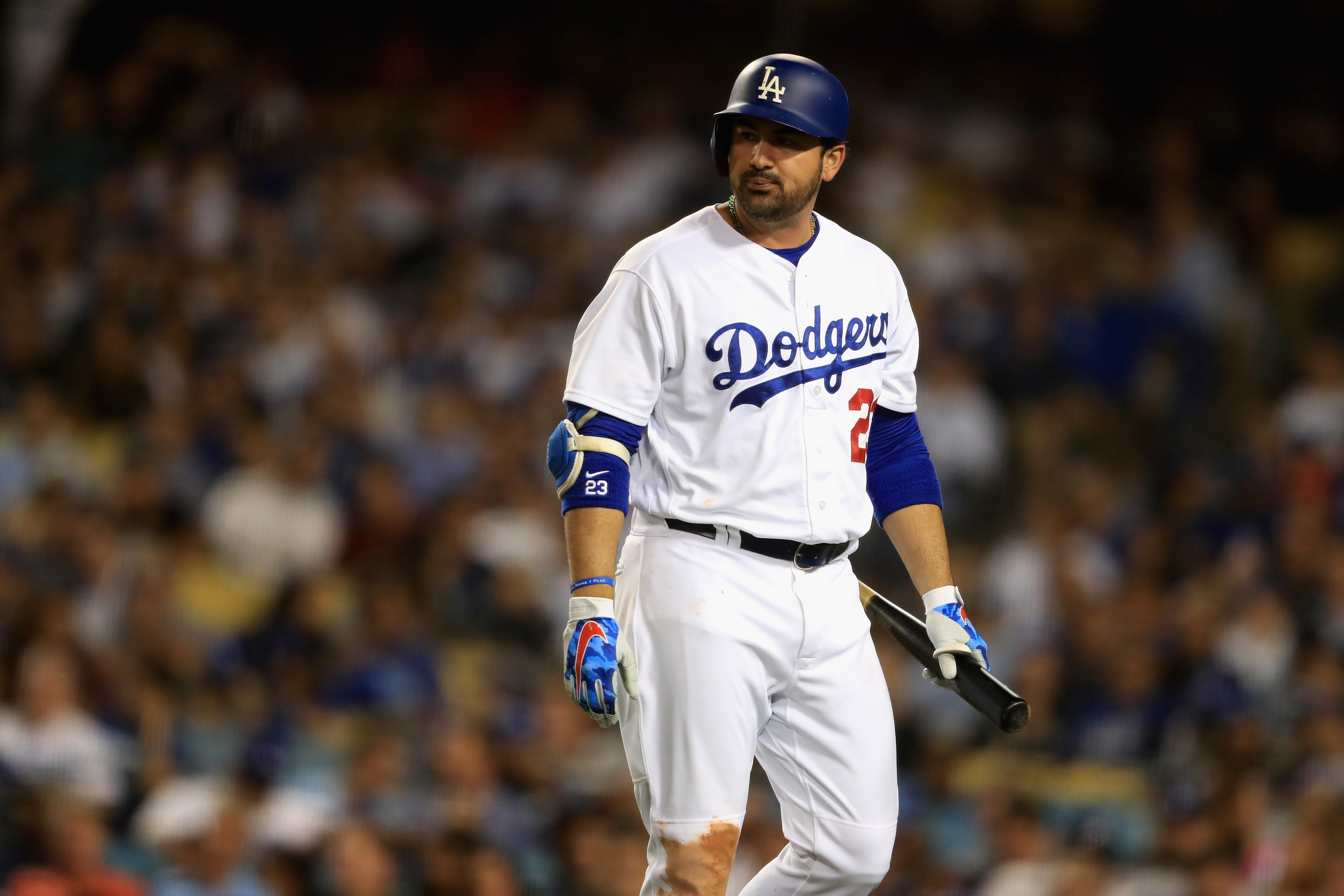 Dodgers will leave $22-million man Adrian Gonzalez off playoff roster