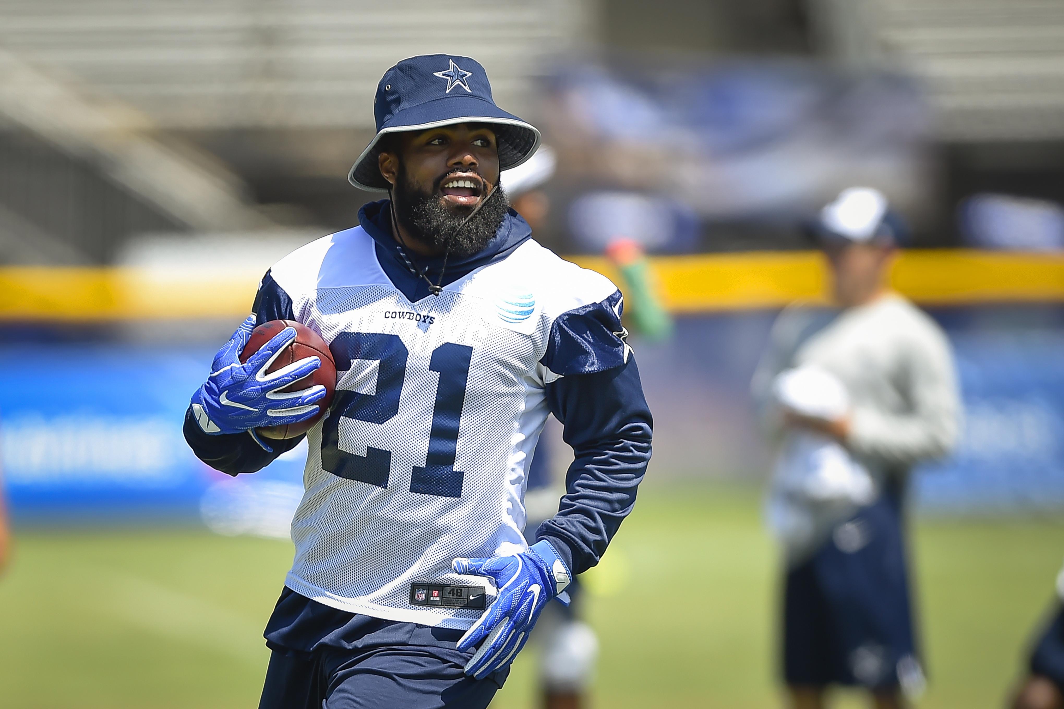 Ezekiel Elliott led the NFL in rushing as a rookie last season. (AP)