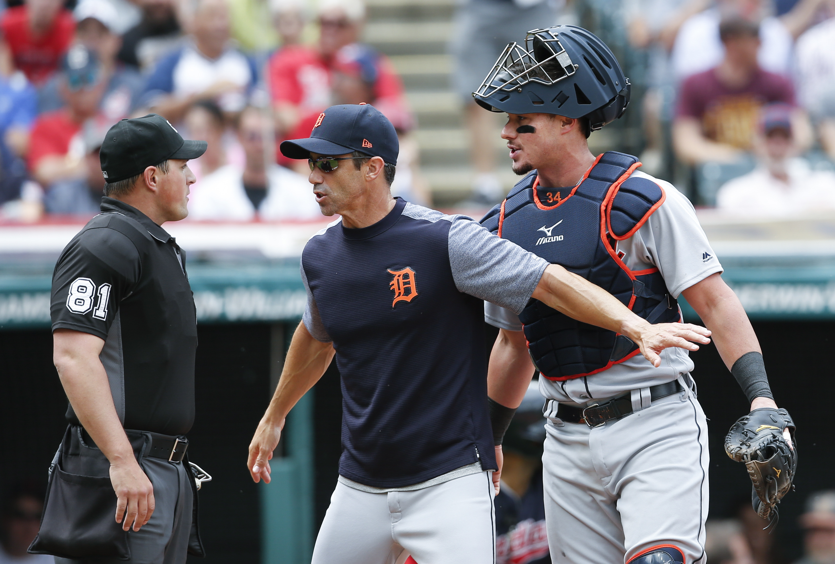 Tigers deny hitting umpire on purpose after Indians broadcast fuels speculation