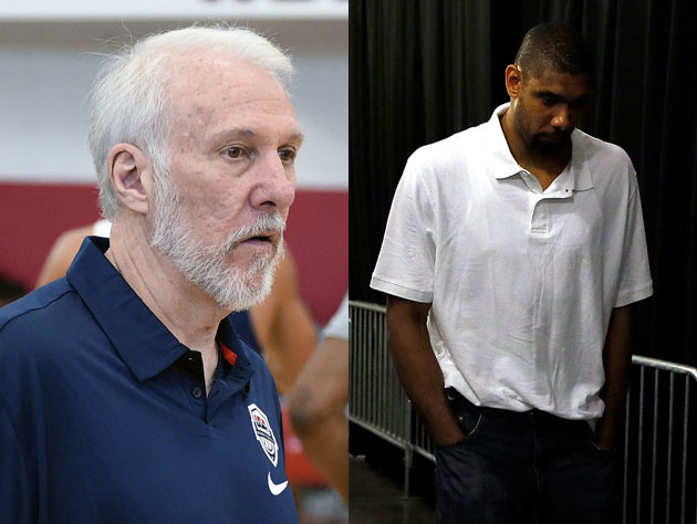 Gregg Popovich on a Tim Duncan-less Spurs camp: 'It's a little …
