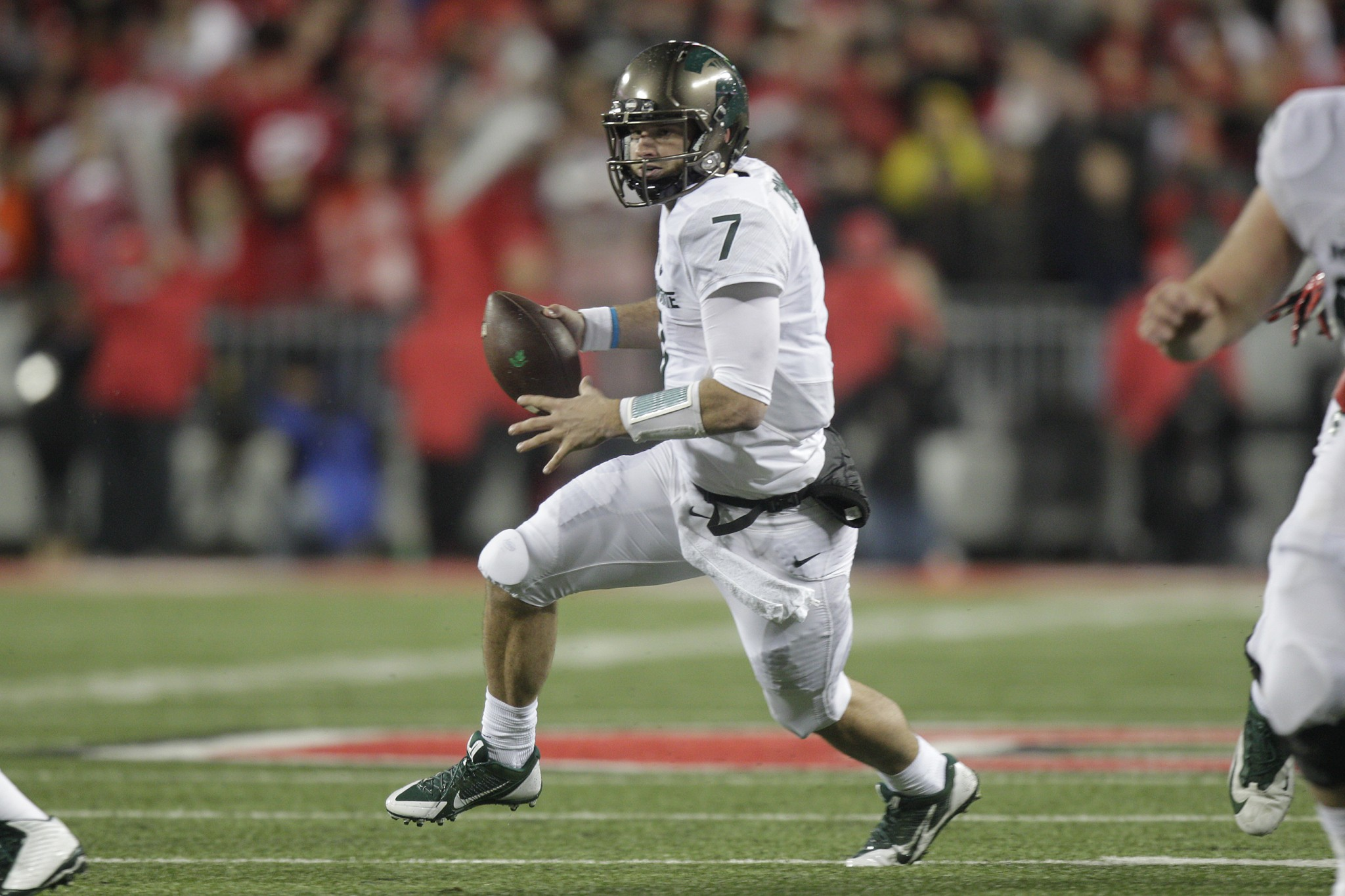 Tyler O'Connor led Michigan State to a win over Ohio State in Columbus. (AP Photo/Jay LaPrete)