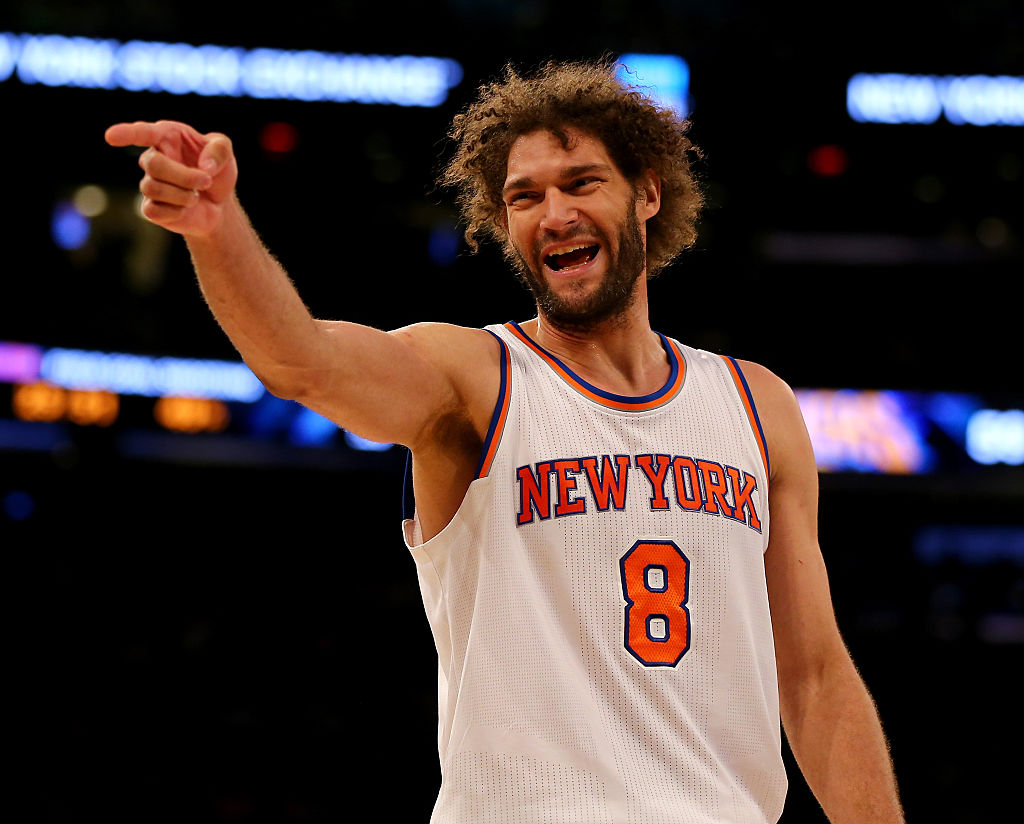 Robin Lopez got tickled with a feather on a bed by Mariah Carey…