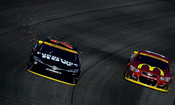Martin Truex Jr. (L) and Jamie McMurray