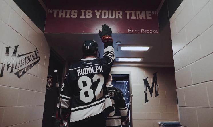 Vikings tight end Kyle Rudolph plays hockey in Pro Bowl bid (Vi…